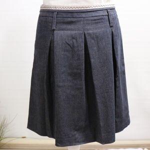 BCBG Maxazria Pleated Jean Skirt